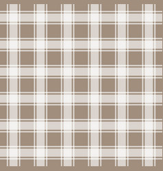 Brown gingham seamless pattern background vector