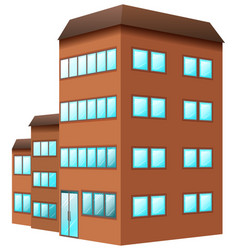 building painted in brown color vector image