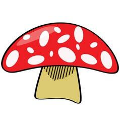 cartoon mushroom vector image