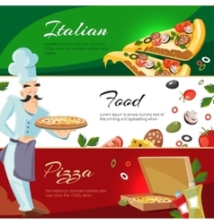 Cartoon web banners with ingridients of vector
