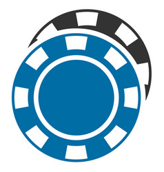 Casino chips flat icon vector