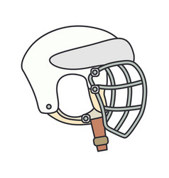 color icon hockey rugby baseball defense vector image