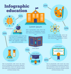 Colorful infographic education vector