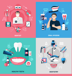 Dental 2x2 design concept vector