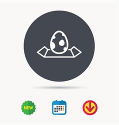 Dinosaur egg icon location map sign vector