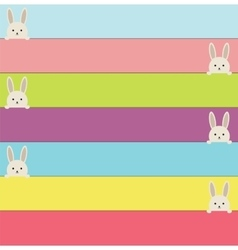 Easter banners with rabbit Colorful banners with vector image
