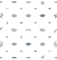 Eye icons pattern seamless white background vector