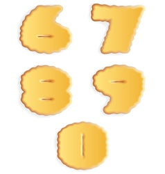 Figures of cracker biscuits vector