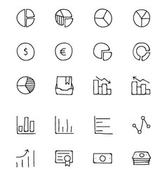 Finance Hand Drawn Doodle Icons 11 vector