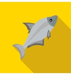 Fish icon in flat style vector