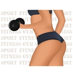 Fitness Club or Gym emblem with training muscled vector image