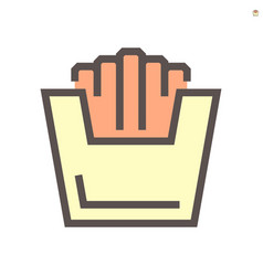 french fries icon design for food graphic design vector image