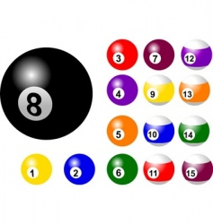 game balls vector image
