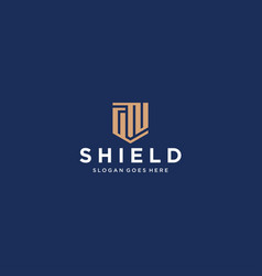 Gn letter shield icon vector