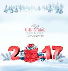 Happy new year 2017 Holiday Christmas background vector