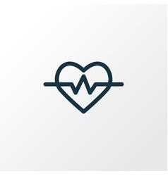 Heartbeat icon line symbol premium quality vector