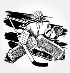 Hockey player2 vector