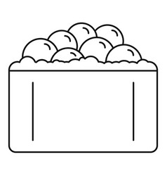 Hotate tai sushi icon outline style vector
