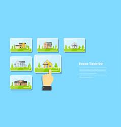 House selection concept vector