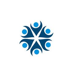 Human shape flower logo template design vector