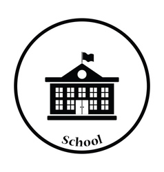 Icon of School building vector image vector image