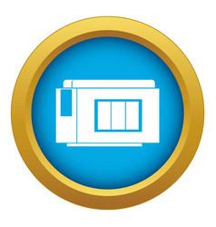 Inkjet printer cartridge icon blue isolated vector