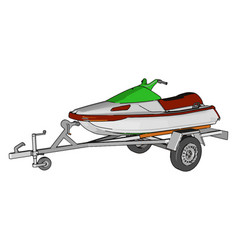 Jetski on white background vector