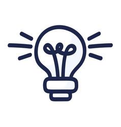 light bulb cartoon doodle electric energy vector image