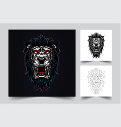 lion artwork vector image