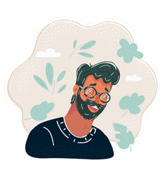 man face avatar vector image