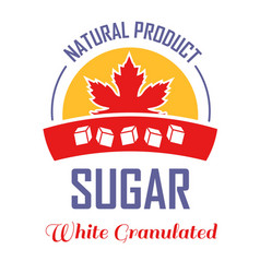 maple leaf natural sugar product isolated icon vector image
