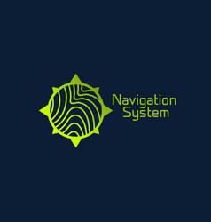 navigation system logo vector image