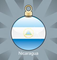 Nicaragua flag on bulb vector image