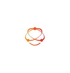 orbit connect technology logo vector image