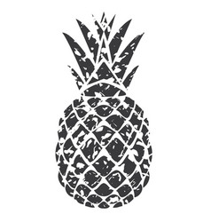 Pineapple grey grunge vector