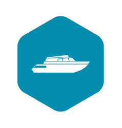 Planing powerboat icon simple style vector