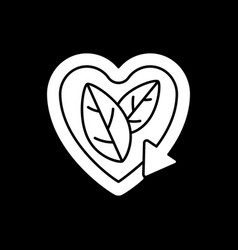 Please recycle sign dark mode glyph icon vector