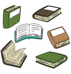 Set of book vector