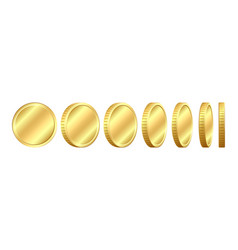 set of coins in different positions vector image vector image