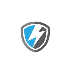 shield power lightning vector image