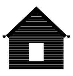 siding front the black color icon vector image
