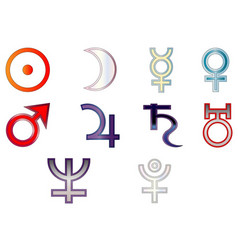Signs planets vector