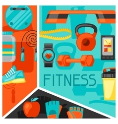 sports and healthy lifestyle background vector image