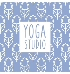 Text Yoga Studio Design Card vector image