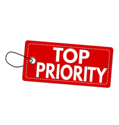 Top priority label or price tag vector
