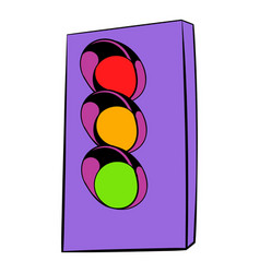 traffic light icon icon cartoon vector image
