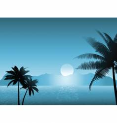 tropical scene at night vector image