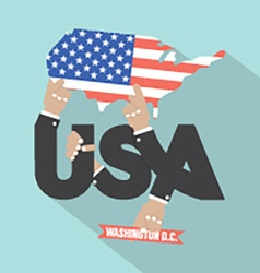 USA Typography Design vector image