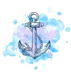 Vintage hand drawn anchor vector