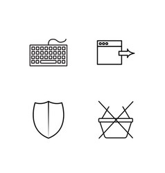 Web simple outlined icons set vector